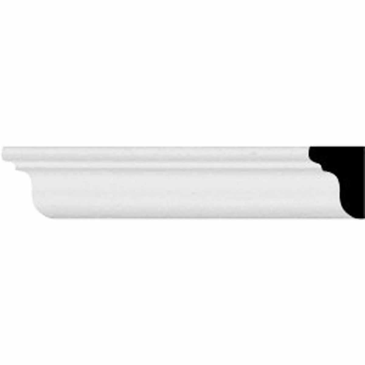 5/8'H x 1/2'P x 96 1/8'L, (3/4' Repeat), Classic Smooth Crown Moulding