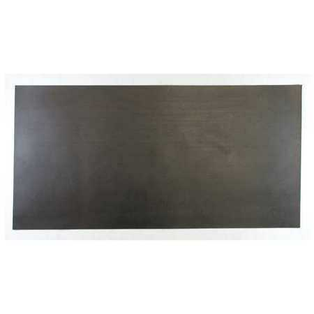 E. JAMES 3/16' Comm. Grade Neoprene Rubber Sheet, 12'x24', Black, 30A, 6030-3/16B