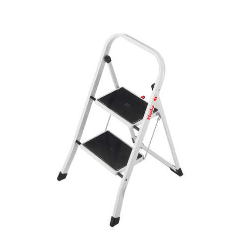 Hailo USA Inc. 2-Step Steel Step Stool with 330 lb. Load Capacity