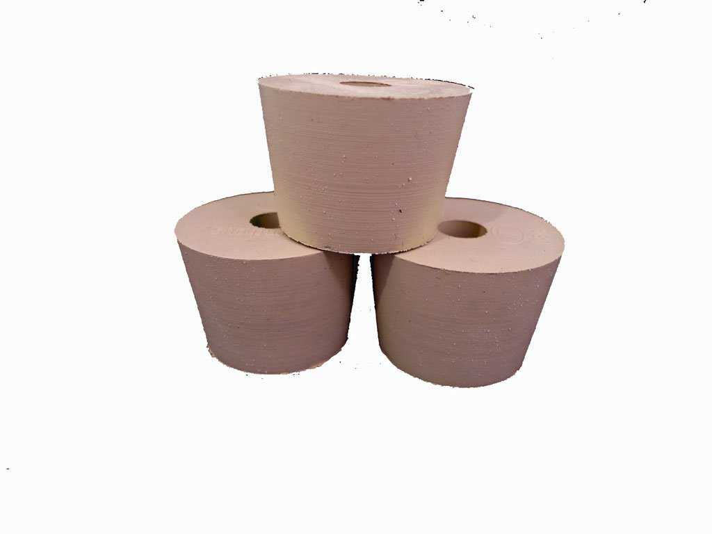 Drilled Rubber Stopper #7.5 (Set of 3)