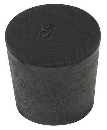 2-004 Stopper, 25mm, Rubber, Black, PK 50