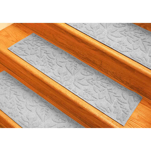 Bungalow Flooring Aqua Shield White Fall Day Stair Tread (Set of 4)