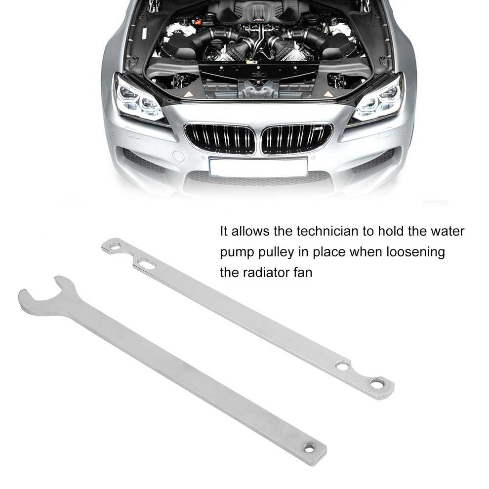 Car Auto Fan Clutch Nut Wrench And Water Pump Holder Tool Removal Set For BMW