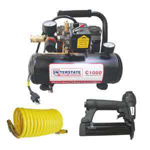 Interstate Pneumatics C1000-K 23 Gauge Pin Nailer / Compressor Combo Kit
