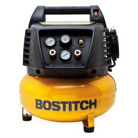 Factory-Reconditioned Bostitch BTFP02011-R 6 Gallon Oil-Free Pancake Air Compressor (Refurbished)
