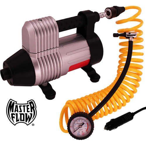 Masterflow 12v 3-in-1 Turbo-Boost Air Compressor / Inflator / Deflator