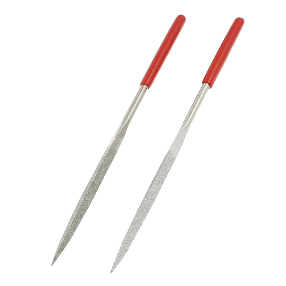 2 x Woodwork 4.5mm x 180mm Three Square Triangle Needle Files