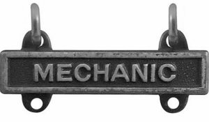 Army Qualification Bar Mechanic (Oxidized Finish)