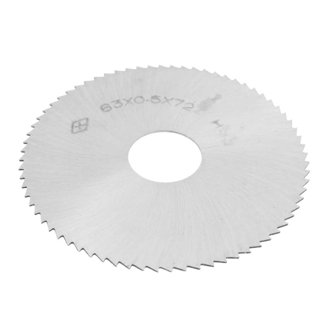Unique Bargains Silver Tone HSS 72T Slitting Saw Blade 63mm x 0.5mm x 16mm