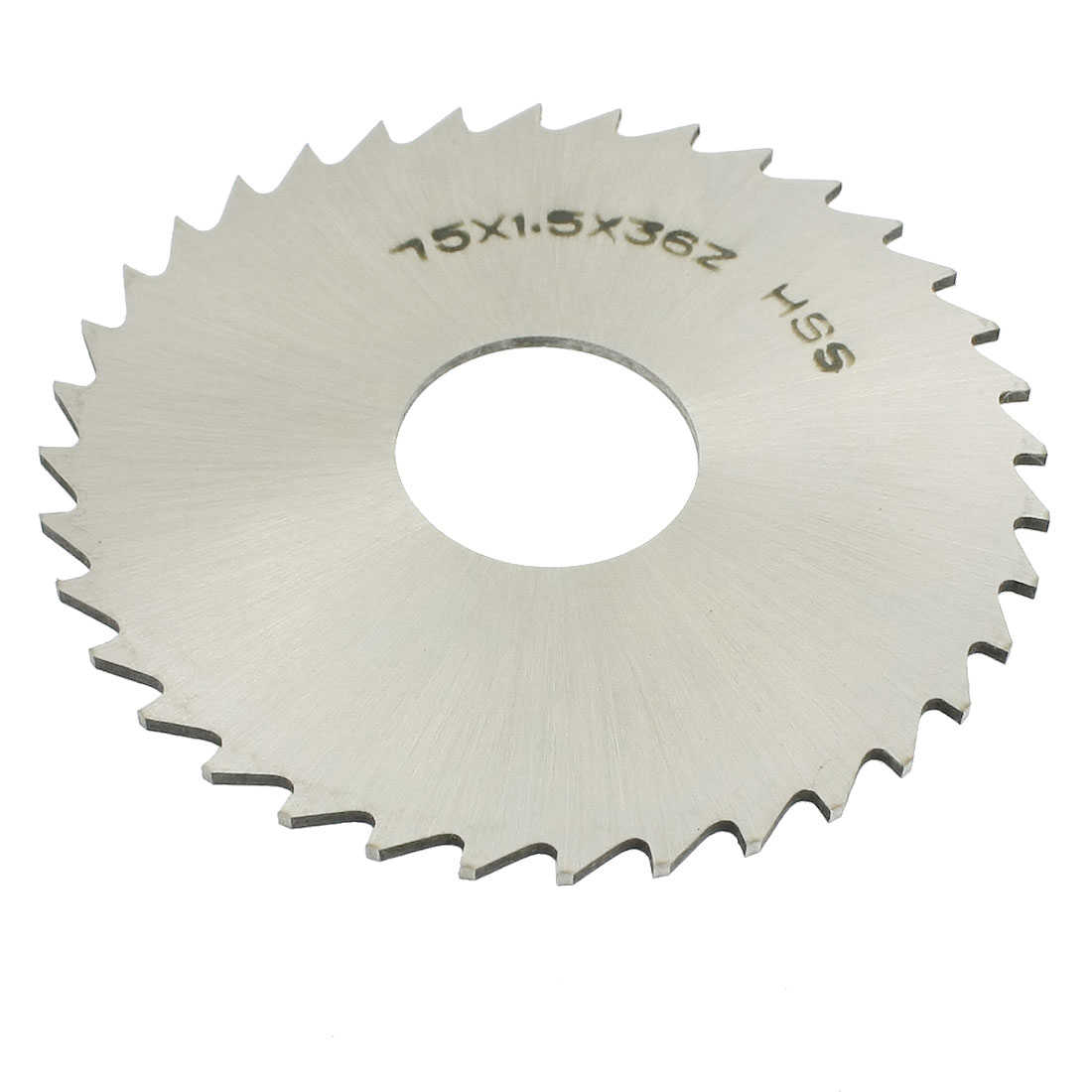 Unique Bargains Slitting Slotting Saw Mill Cutter Disc HSS 75mm x 1.5mm x 22mm 36 Teeth