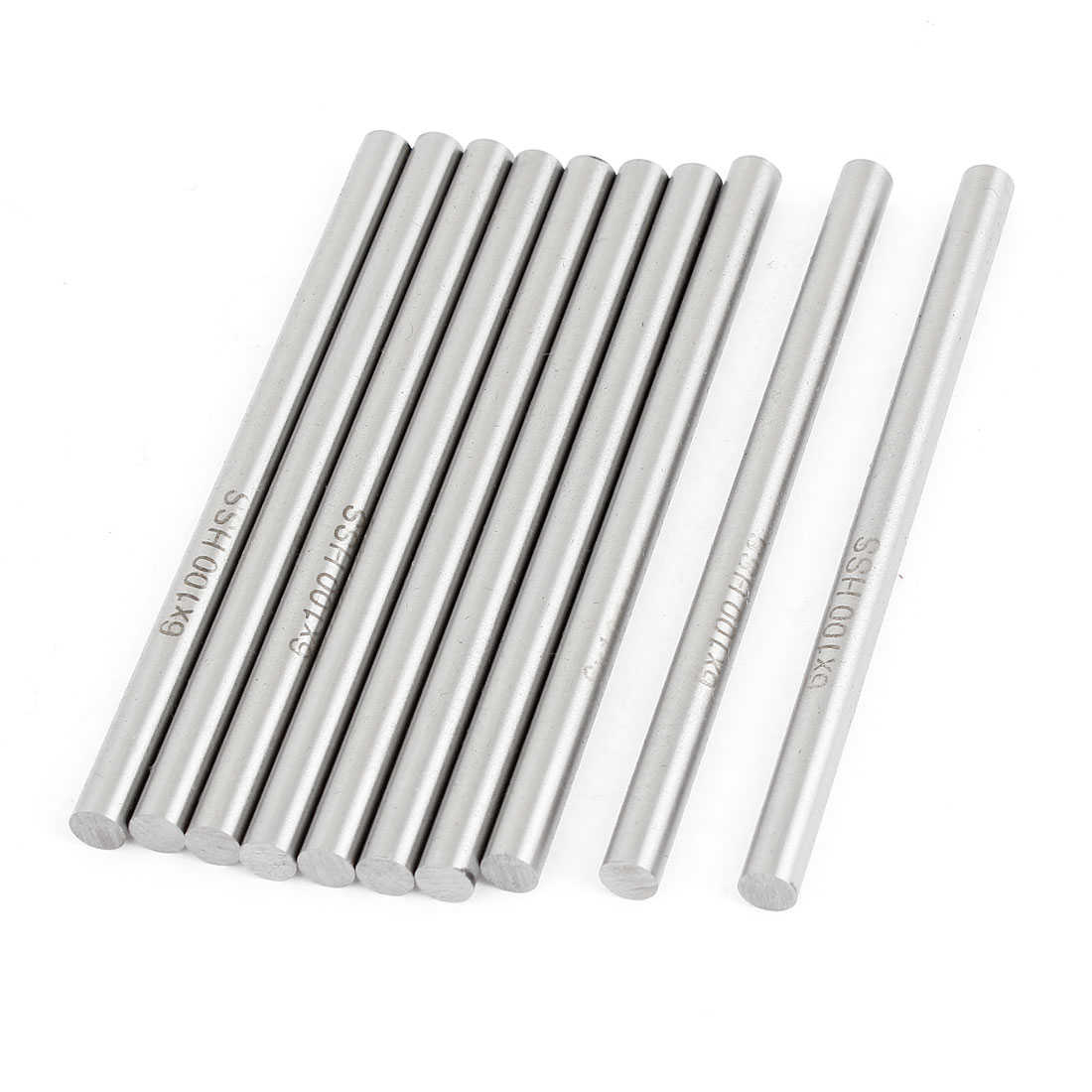 Unique Bargains 6mm x 100mm HSS Graving Tool Round Turning Lathe Carbide Bars Stick 10x