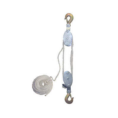 4000 LB Cap Hand Rope Block and Tackle Pulley System