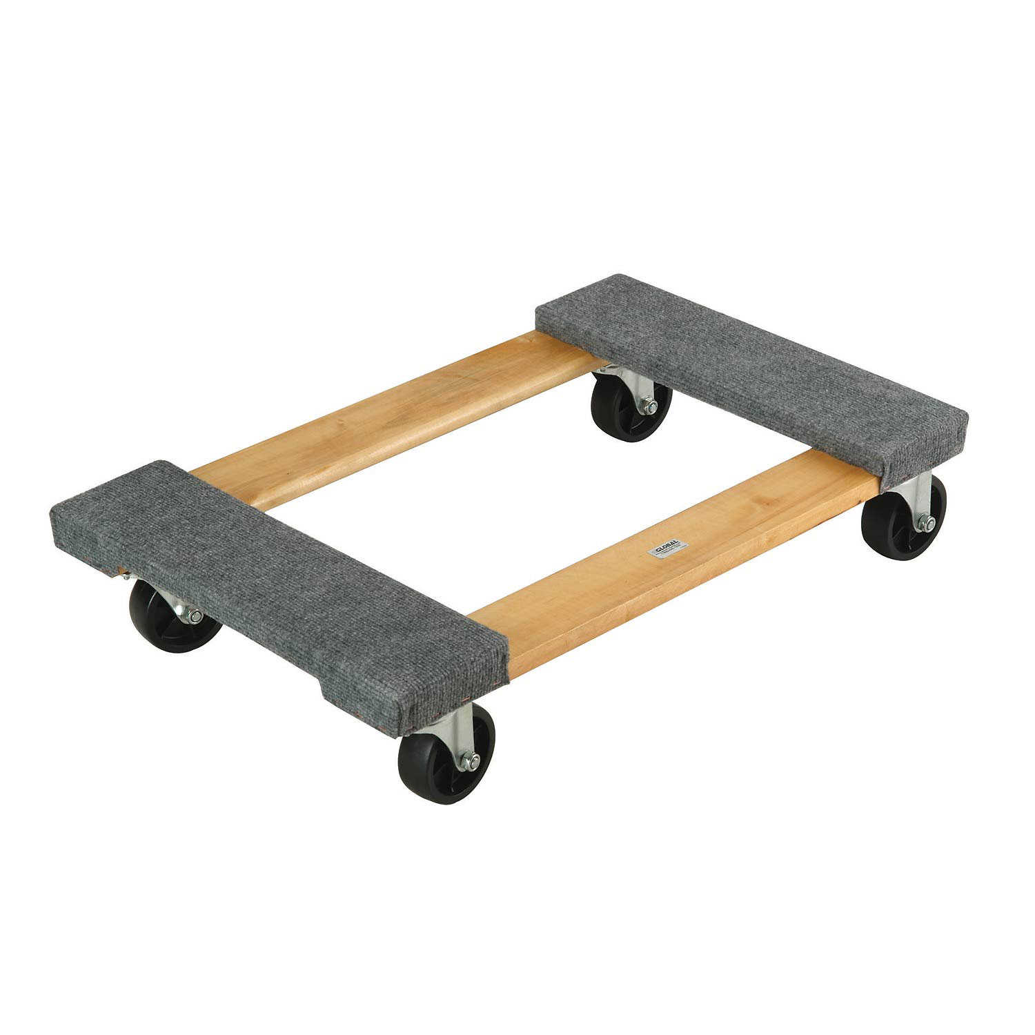 Hardwood Dolly - Carpeted Deck Ends, 30 x 18, 1200 Lb. Capacity, Lot of 1