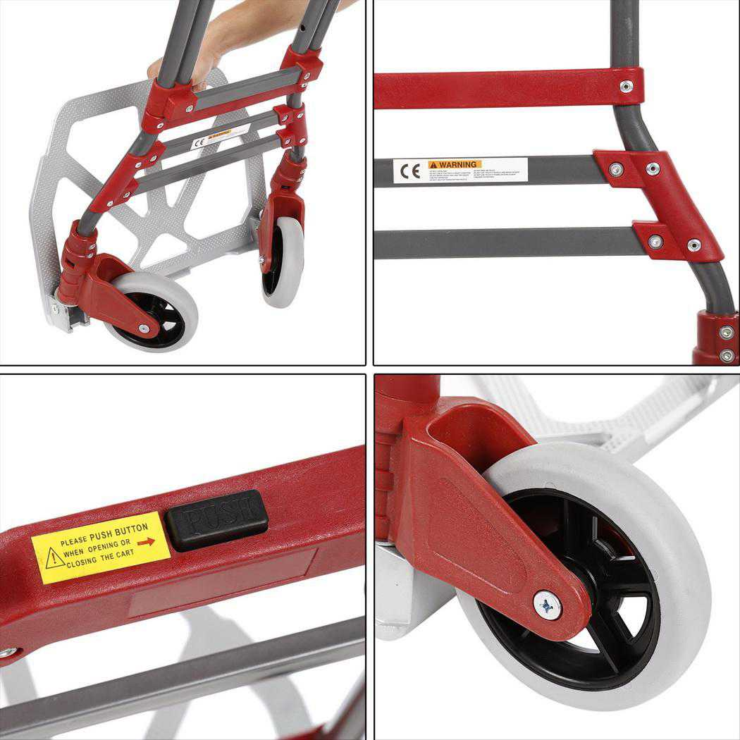 Aluminum Alloy Folding Dolly Hand Truck,165 lbs Capacity OTST