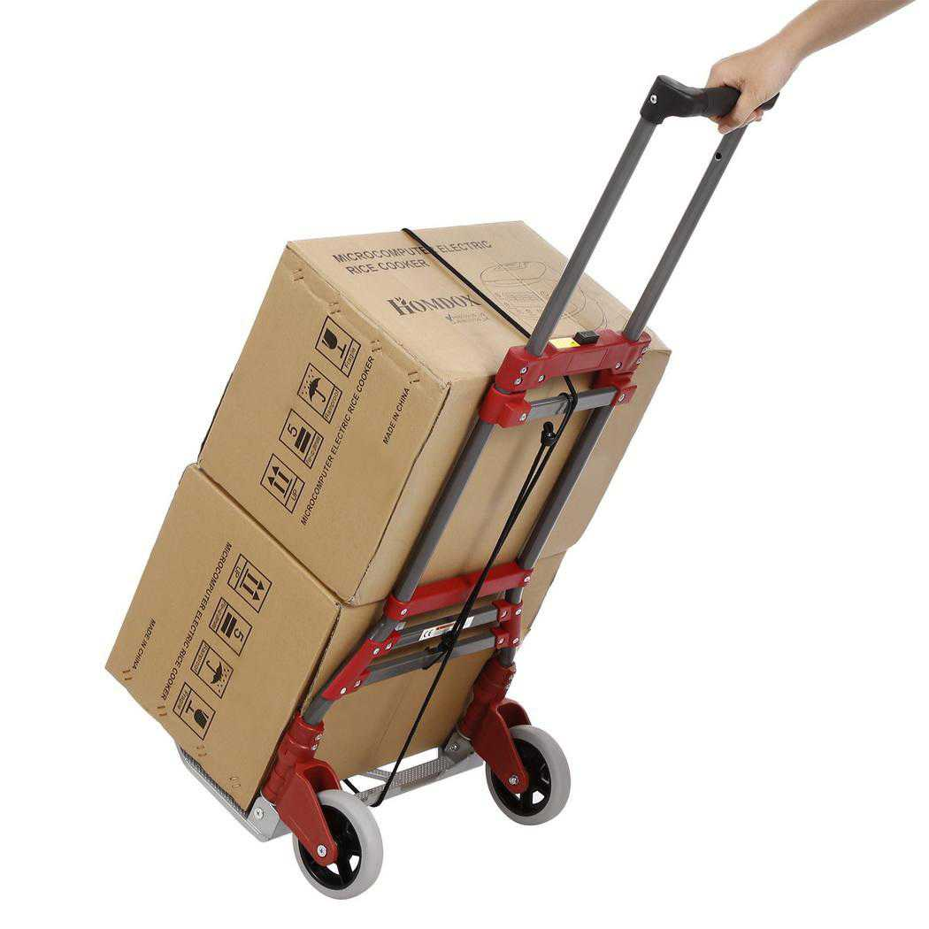 Aluminum Alloy Folding Dolly Hand Truck,165 lbs Capacity CCGE