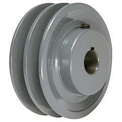 3.75' X 1' Double Groove AK Fixed Bore Pulley # 2AK39X1