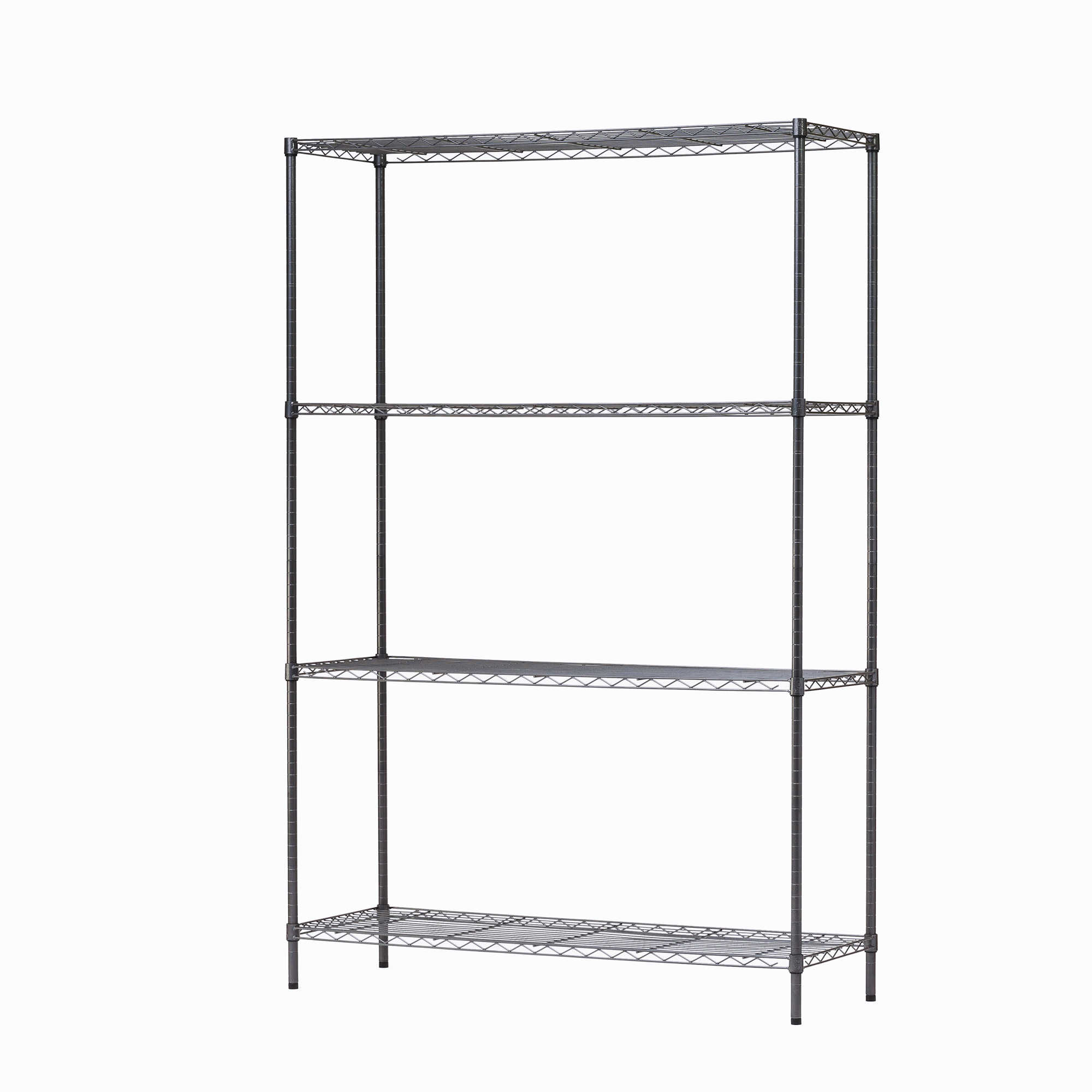 HSS 4 Tier Wire Shelving Rack, Black Anthracite, 18'Dx48'Wx72'H